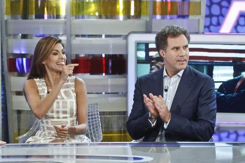 Ева Мендес и Уилл Феррел на шоу El Hormiguero