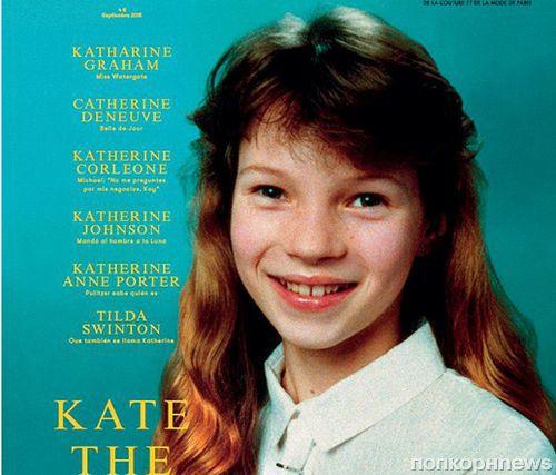 10-летняя Кейт Мосс украсила обложку нового выпуска  L'Officiel