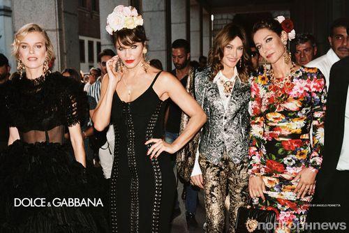Звезды в сборе: Ева Герцигова, Хелена Кристенсен и Моника Беллуччи в новой рекламе Dolce & Gabbana