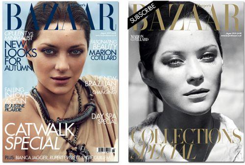 Марион Котийяр в журнале Harpers Bazaar UK. Август 2010
