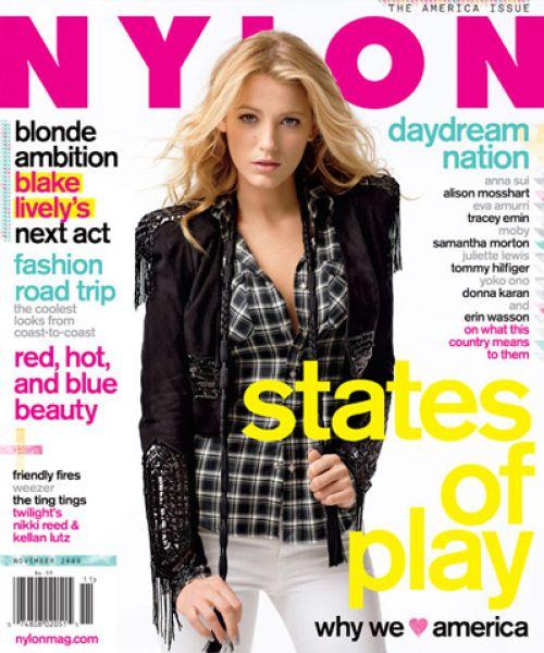 Блэйк Лайвли в журнале Nylon. Ноябрь 2009