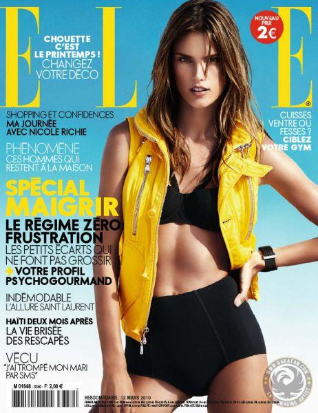 Алессандра Амбросио в журнале Elle France. Март 2010