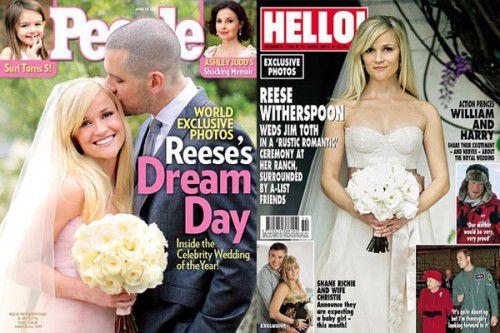Обложка журнала Hello! с Риз Уизерспун обработана фотошопом