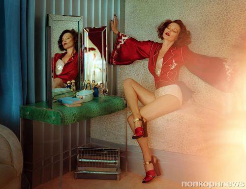 Кейт Мосс в журнале Vogue Великобритания. Октябрь 2013