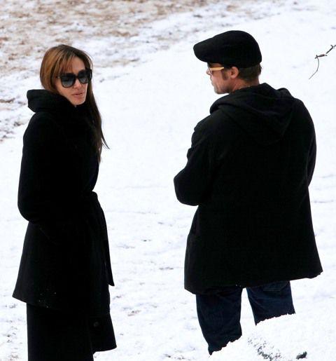 Анджелина Джоли и Брэд Питт снова вместе на съемках фильма
