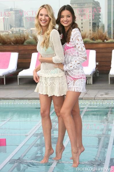 Миранда Керр на презентации новой коллекции купальников Victoria's Secret