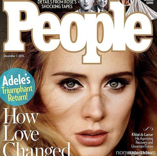 Адель украсила обложку People