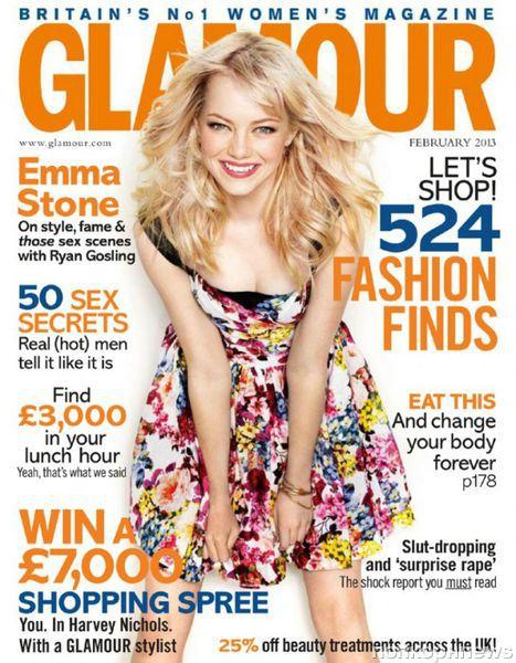 Эмма Стоун в журнале Glamour Великобритания. Февраль 2013
