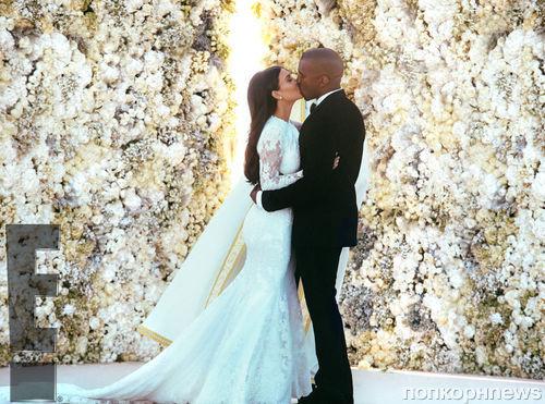 Ким Кардашян и Канье Уэст: официальные свадебные фото