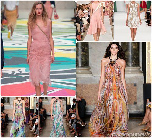 Модные платья весна-лето 2015: фото модных фасонов и моделей