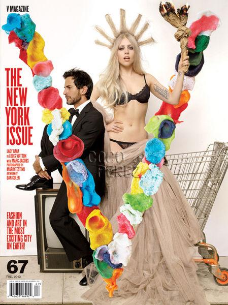 Lady Gaga и Марк Джейкобс на обложке журнала V