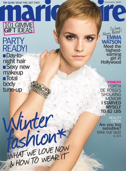 Эмма Уотсон в журнале Marie Claire. Декабрь 2010