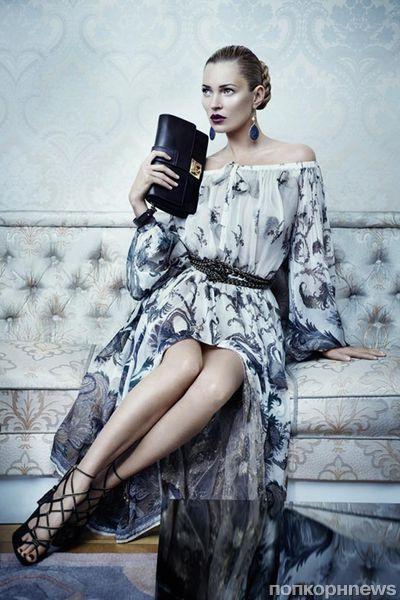 Кейт Мосс в осенней рекламной кампании Salvatore Ferragamo