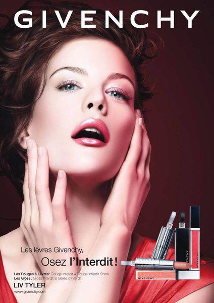 Лив Тайлер для рекламы Givenchy