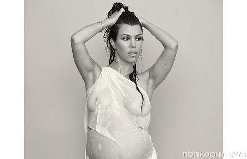 Беременная Кортни Кардашян в журнале  DuJour. Декабрь 2014