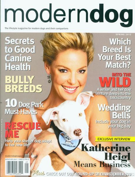 Кэтрин Хайгл в журнале Modern Dog. Весна 2012