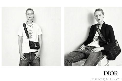 Дженнифер Лоуренс снялась в рекламе Dior без макияжа