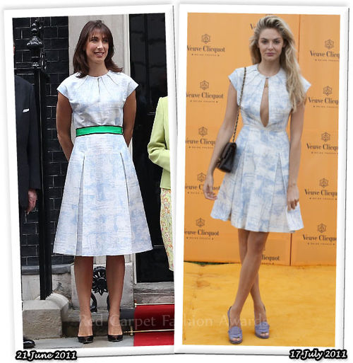Fashion Battle: Саманта Кэмерон и Тэмсин Эгертон