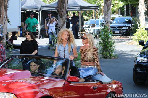 Бритни Спирс и Игги Азалия на съемках нового клипа