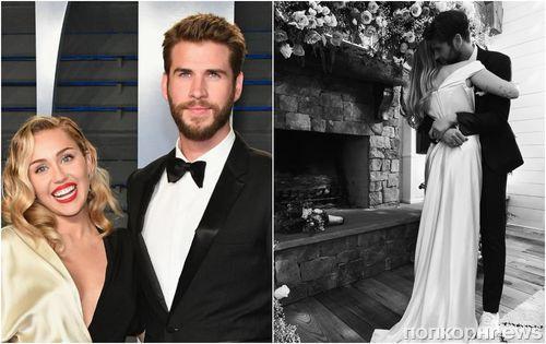 Официально: Майли Сайрус подтвердила брак с Лиамом Хемсвортом, показав свадебные фото