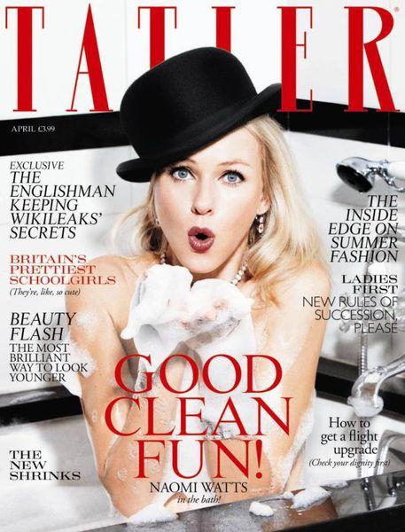 Ноами Уоттс в журнале Tatler. UK. Апрель 2011