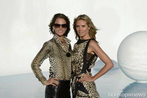 Хайди Клум на съемках шоу Germany's Next Topmodel
