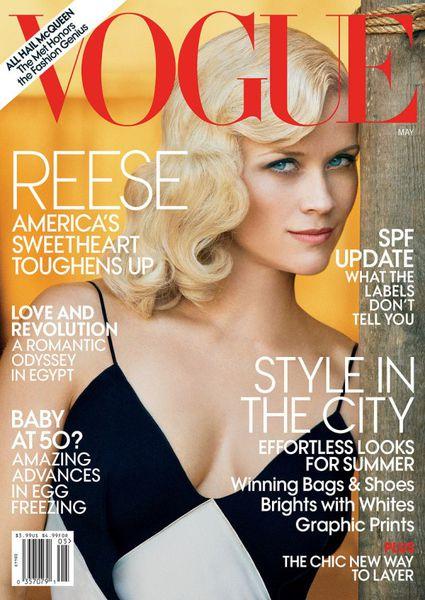 Риз Уизерспун в журнале Vogue. Май 2011