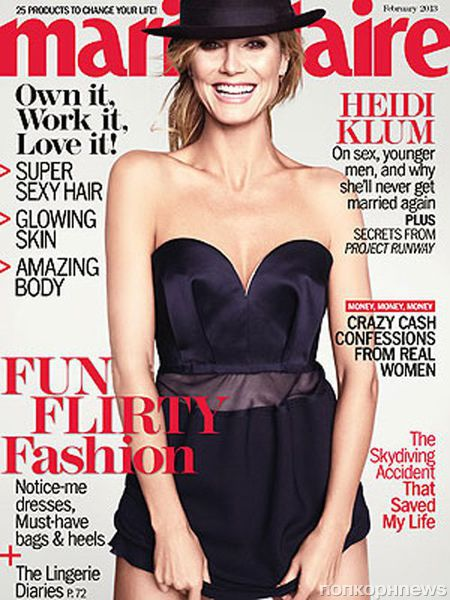 Хайди Клум в журнале Marie Claire. Февраль 2013