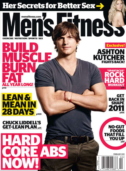 Эштон Кутчер в журнале Men's Fitness