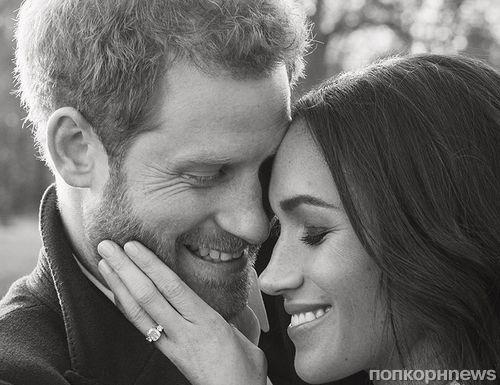 Представлены официальные портреты принца Гарри и Меган Маркл по случаю помолвки