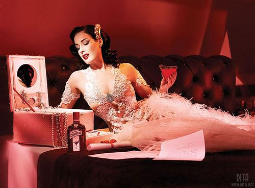 Дита фон Тиз в рекламе бара Cointreau Privé