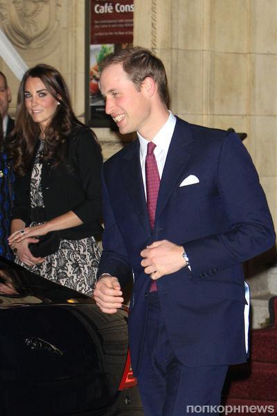 Принц Уильям и Кейт Миддлтон на благотворительном концерте Гэри Барлоу