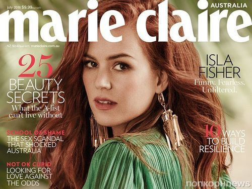 Айла Фишер в по-летнему ярком фотосете для Marie Claire