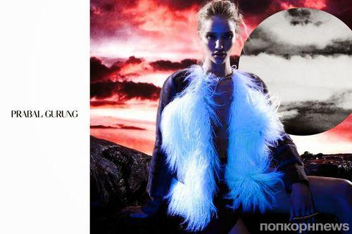 Роузи Хантингтон-Уайтли в рекламной кампании Prabal Gurung. Осень 2014