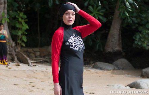 Линдси Лохан примерила мусульманский купальный костюм