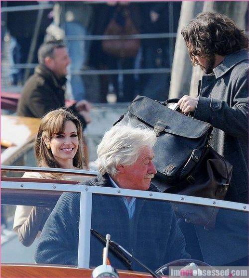 Анджелина Джоли и Джонни Депп на съемках «Туриста». 17 марта