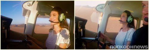 Анджелина Джоли продемонстрировала умение пилотировать самолет