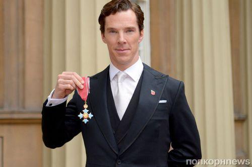 Королева Елизавета наградила Бенедикта Камбербэтча орденом Британской империи