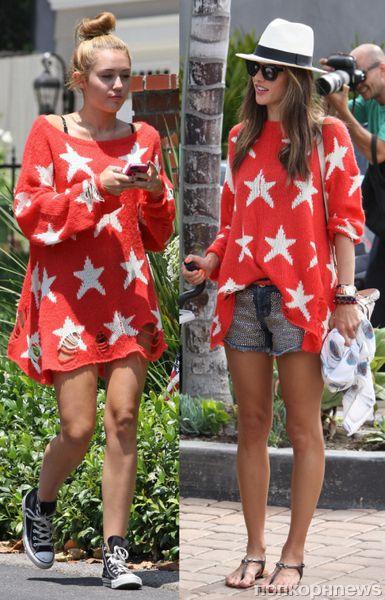 Fashion battle: Майли Сайрус и Алессандра Амбросио