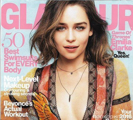 Эмилия Кларк в журнале Glamour. Май 2016
