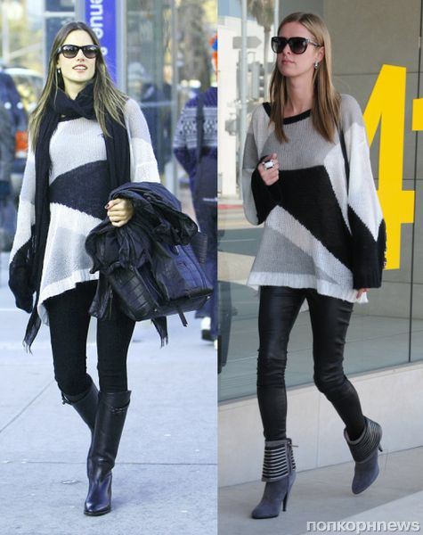 Fashion battle: Алессандра Амбросио и Ники Хилтон