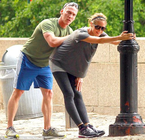 Хайди Клум на тренировке в Нью-Йорке
