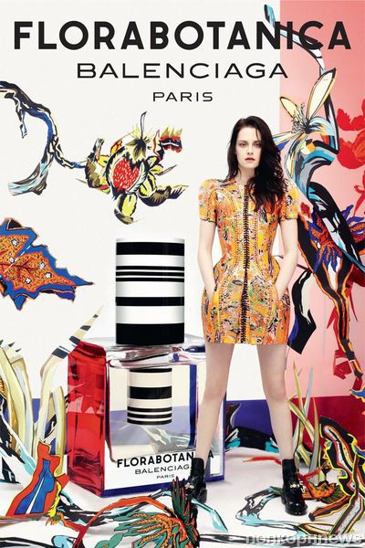 Кристен Стюарт в рекламе аромата Florabotanica Balenciaga