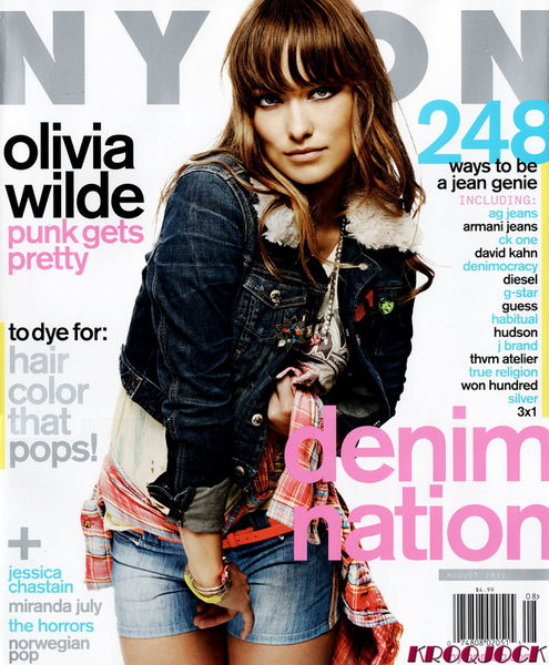Оливия Уайлд в журнале Nylon. Август 2011