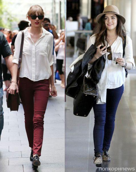 Fashion battle: Тейлор Свифт и Люси Хейл