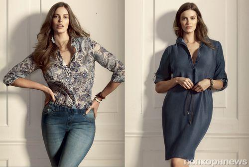 """Каталог новой линии одежды одежды размера plus-size от Mango """"Violeta"""""""