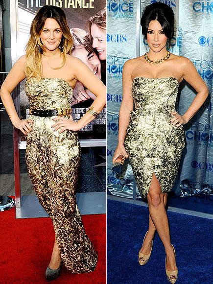 Fashion Battle: Дрю Бэрримор и Ким Кардашиан