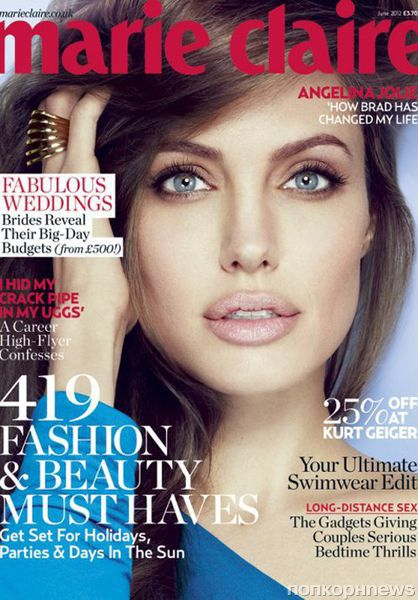 Анджелина Джоли в журнале Marie Claire Великобритания. Июнь 2012