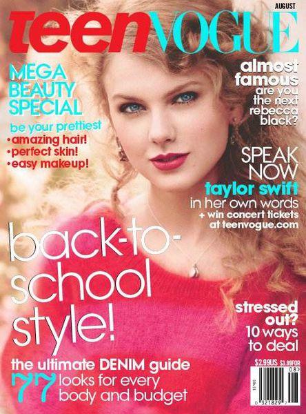 Тэйлор Свифт в журнале Teen Vogue. Август 2011