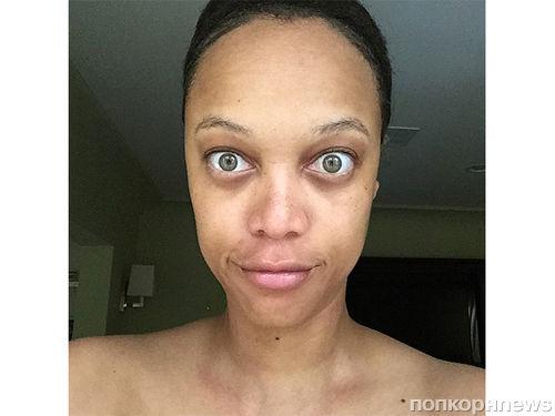 Тайра Бэнкс показала шокирующее селфи без макияжа